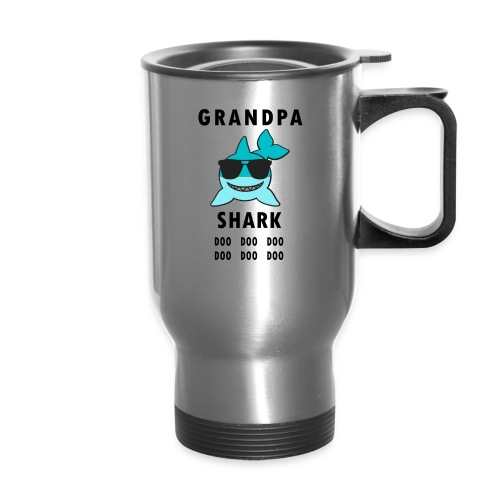 Grandpa Shark Doo Doo Doo Funny Shark - Travel Mug