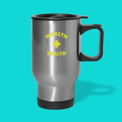wealth health and balance - Travel Mug