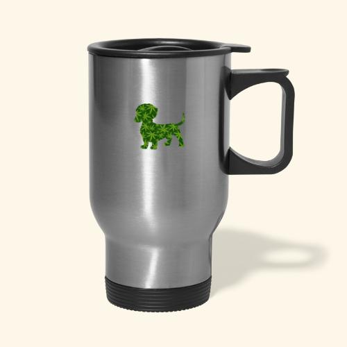 PUFFY DOG - PRESENT FOR SMOKING DOGLOVER - Travel Mug