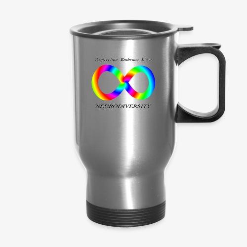 Embrace Neurodiversity with Swirl Rainbow - Travel Mug