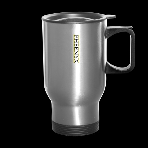 Pheenyx logo black - Travel Mug