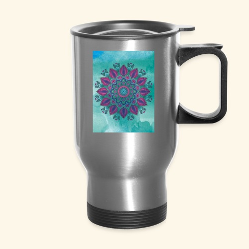 Vinatge Mandala Watercolor - Travel Mug