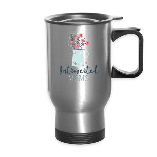 Introverted Moms Logo - Travel Mug with Handle