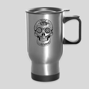 Catrina Black & White - Travel Mug