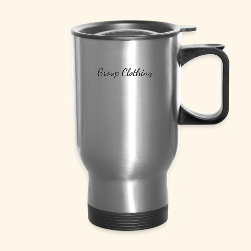 Cursive Black and White Hoodie - Travel Mug