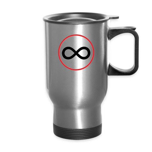 Infinity sign red circle - Travel Mug