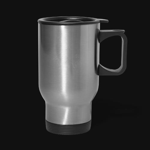 Dachshund silhouette white - Travel Mug