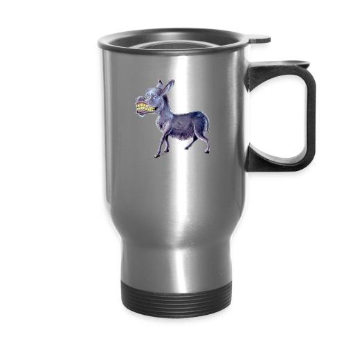 Funny Keep Smiling Donkey - Travel Mug