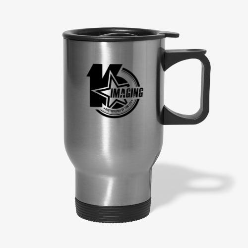 16 Badge Black - Travel Mug