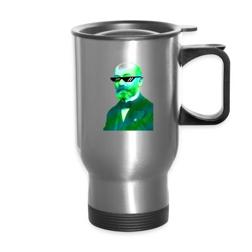 Green and Blue Zamenhof - Travel Mug