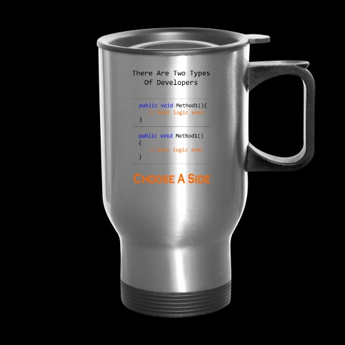 Code Styling Preference Shirt - Travel Mug