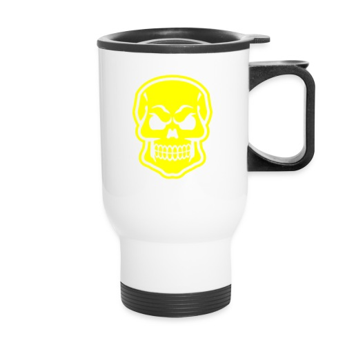 Skull vector yellow - Travel Mug