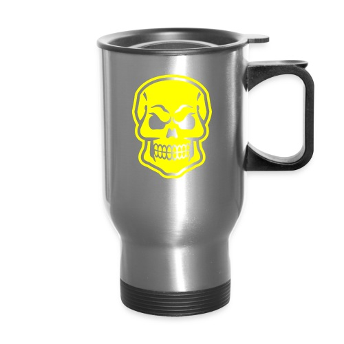 Skull vector yellow - Travel Mug