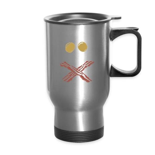 Breakfast Skull - Travel Mug with Handle