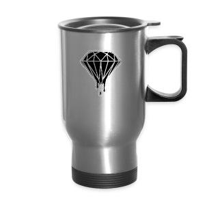 melting black diamond - Travel Mug