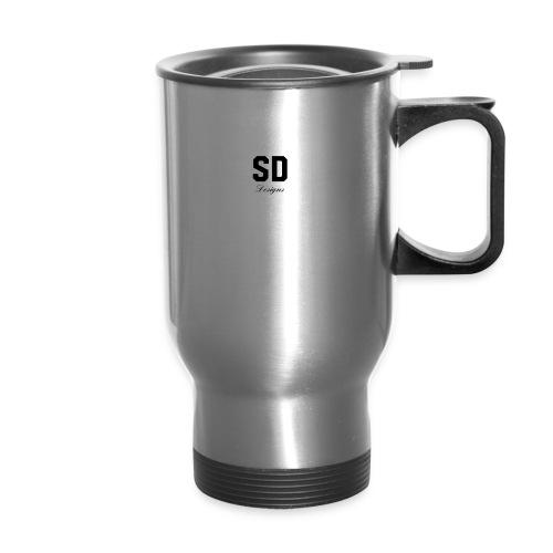 SD Designs blue, white, red/black merch - Travel Mug