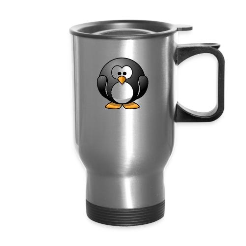 Funny Penguin T-Shirt - Travel Mug