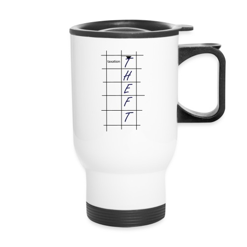 Taxation is Theft Crossword - Travel Mug