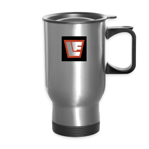 La Fortuna logo against black - Travel Mug