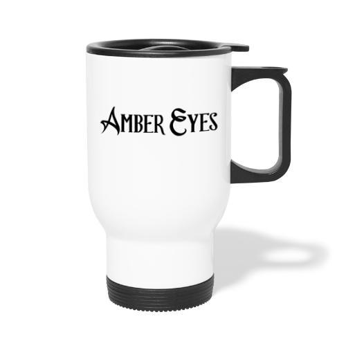 AMBER EYES LOGO IN BLACK - Travel Mug