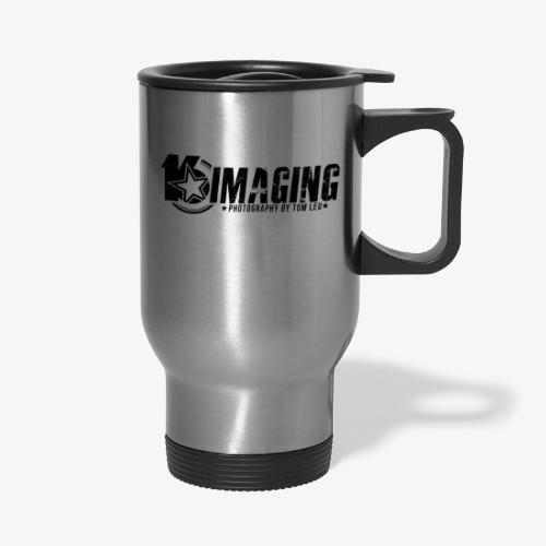 16 Horizontal Black - Travel Mug