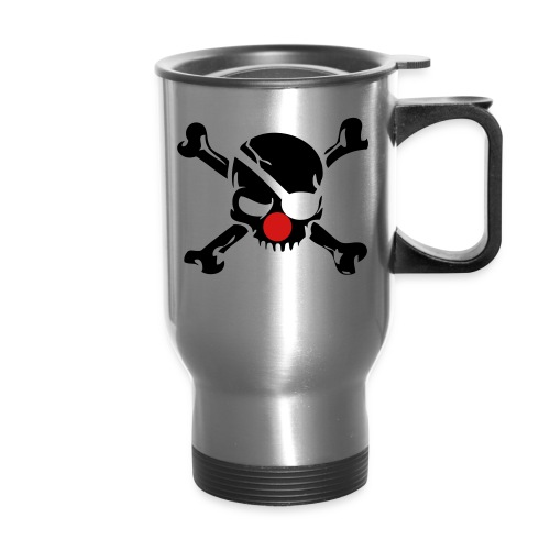 Clown Jolly Roger Pirate - Travel Mug