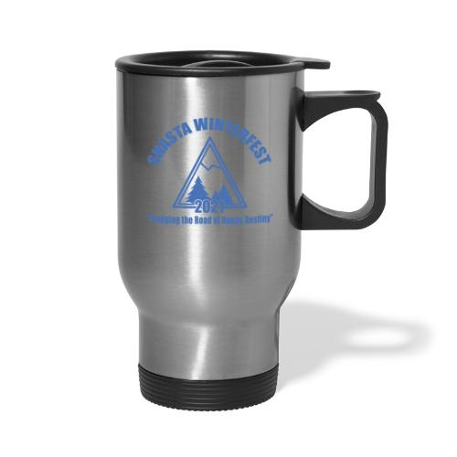 front logo - Travel Mug with Handle