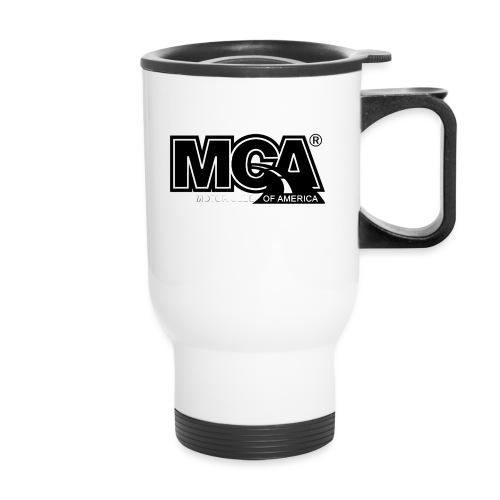 MCA Logo WBG Transparent BLACK TITLEfw fw png - Travel Mug
