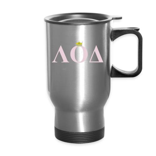 Crown Pink Letters - Travel Mug
