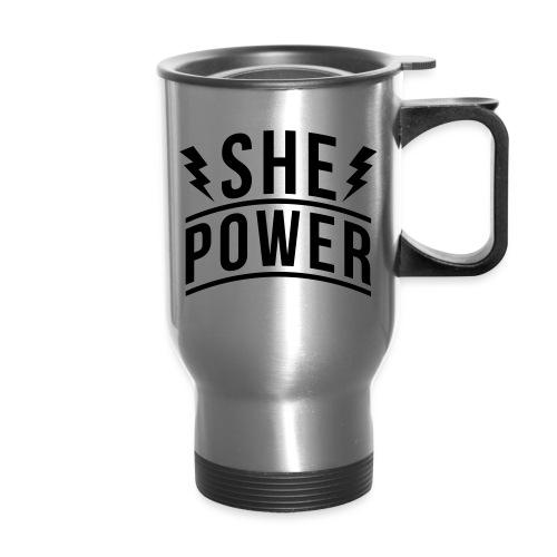 She Power - Travel Mug with Handle
