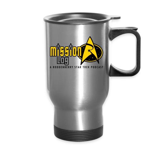 Logo Wide 2 Color Black Text - Travel Mug