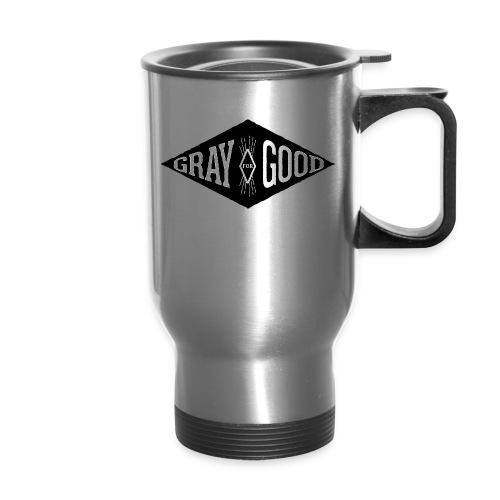 Gray for Good White on Black Diamond - Travel Mug