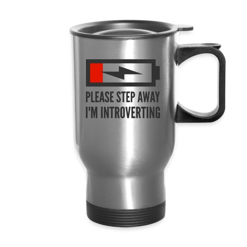 introverting - Travel Mug with Handle