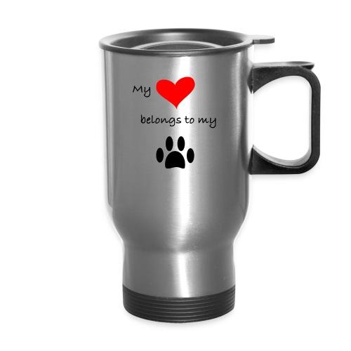 Dog Lovers shirt - My Heart Belongs to my Dog - Travel Mug