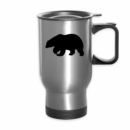 Bear Sihloette Design - Travel Mug
