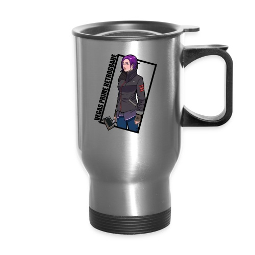 Vegas Prime Retrograde - Clara with Black Border - Travel Mug