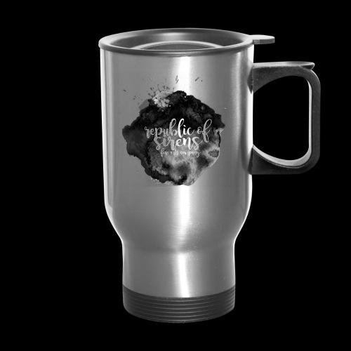 ROS FINE ARTS COMPANY - Black Aqua - Travel Mug