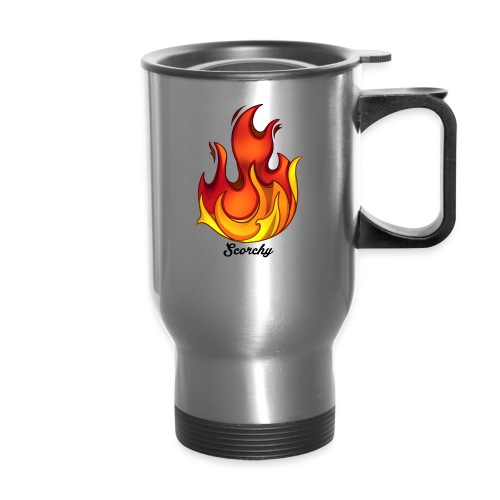 Scorchy Logo Black - Travel Mug