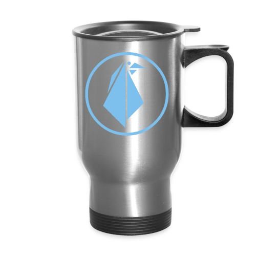 EMPEROR PENGUINS Blue Penguin Logo - Travel Mug