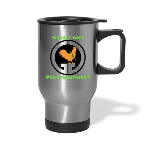 Logo with channel name and hashtag. - Travel Mug with Handle