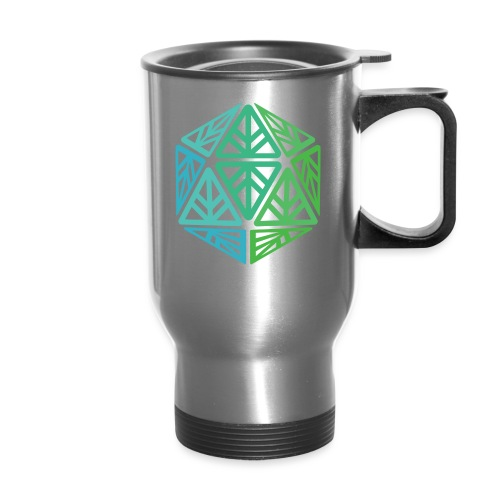 Green Leaf Geek Iconic Logo - Travel Mug