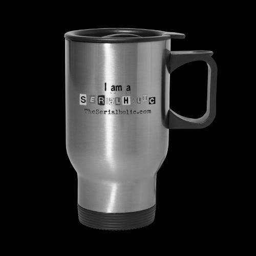 Black Serialholic Logo - Travel Mug with Handle