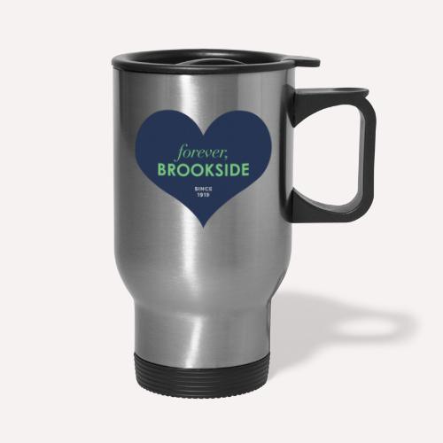 Forever Brookside Navy with Mint - Travel Mug