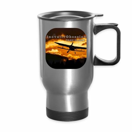 "InovativObsesion ""TAKE FLIGHT"" apparel - Travel Mug"