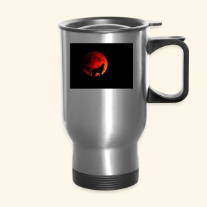 full moon Wolf Mug - Travel Mug