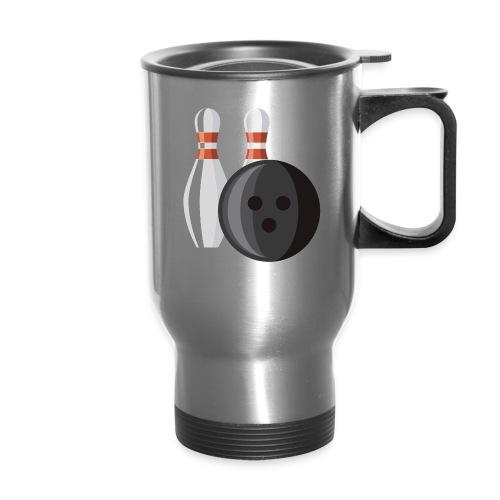Bowling Ball and Pins - Travel Mug