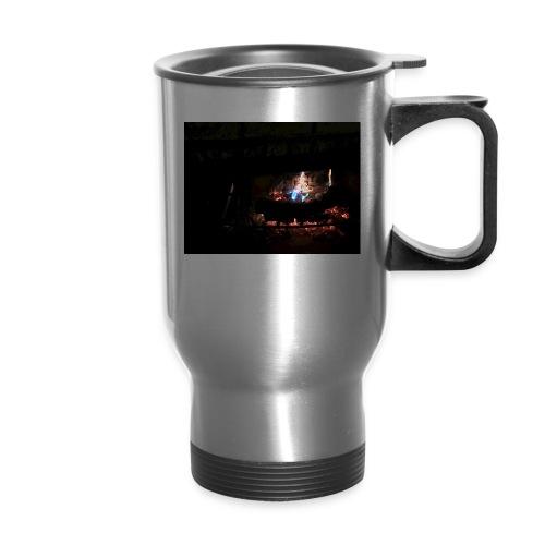 colorful flames - Travel Mug