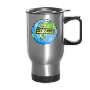 EXPLORE! Logo on the Earth - Travel Mug