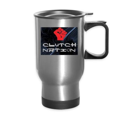 clutchnation logo merch - Travel Mug