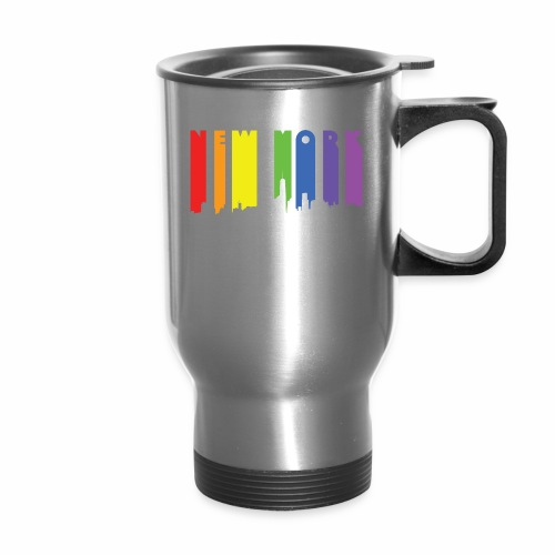 New York design Rainbow - Travel Mug